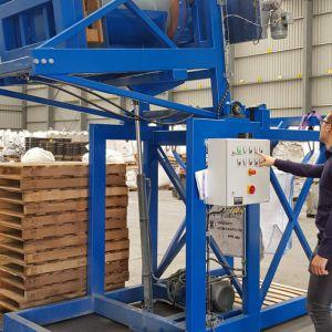 Vatenkantelaar voor poederproducten